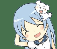 girls&white bearsticker sticker #10531180