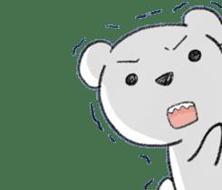 girls&white bearsticker sticker #10531211