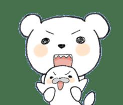 girls&white bearsticker sticker #10531212