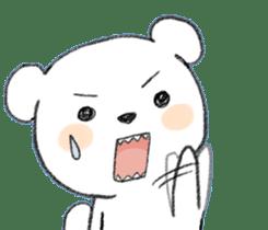 girls&white bearsticker sticker #10531214
