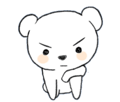 girls&white bearsticker sticker #10531215