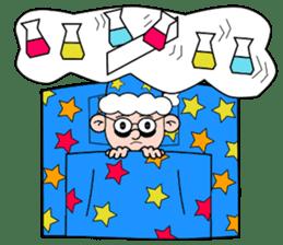 Lovely guy  science version. sticker #10534698