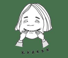 OCD girl sticker #10534998