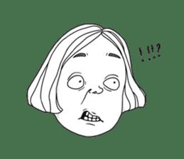 OCD girl sticker #10535011