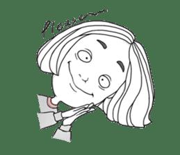 OCD girl sticker #10535016