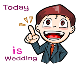Wedding Couple sticker #10538972