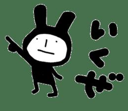 bluff black rabbit sticker #10540230