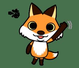 Tangerine fox sticker #10565880