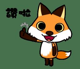 Tangerine fox sticker #10565881