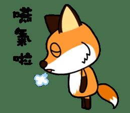 Tangerine fox sticker #10565890