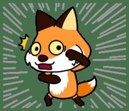 Tangerine fox sticker #10565891