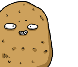 I'm too lazy to name-potato boy life sticker #10577167