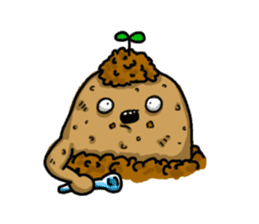 I'm too lazy to name-potato boy life sticker #10577173