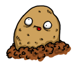 I'm too lazy to name-potato boy life sticker #10577182