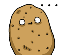 I'm too lazy to name-potato boy life sticker #10577191