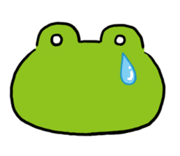 Cute frog kankan ver. sticker #10580482