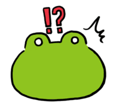 Cute frog kankan ver. sticker #10580483