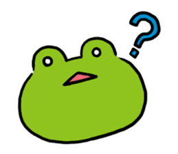 Cute frog kankan ver. sticker #10580484