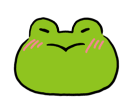 Cute frog kankan ver. sticker #10580487