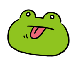 Cute frog kankan ver. sticker #10580488