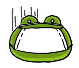 Cute frog kankan ver. sticker #10580489