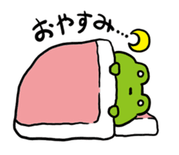 Cute frog kankan ver. sticker #10580491