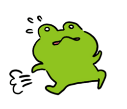 Cute frog kankan ver. sticker #10580500