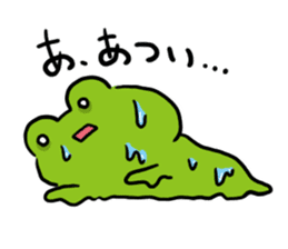 Cute frog kankan ver. sticker #10580502