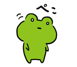Cute frog kankan ver. sticker #10580504