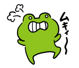 Cute frog kankan ver. sticker #10580510