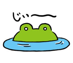 Cute frog kankan ver. sticker #10580513