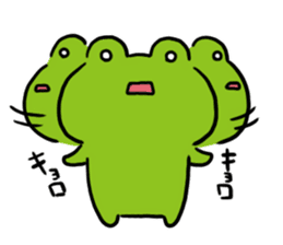 Cute frog kankan ver. sticker #10580516