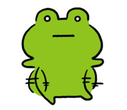 Cute frog kankan ver. sticker #10580518
