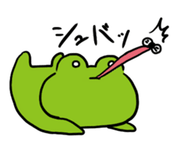 Cute frog kankan ver. sticker #10580519