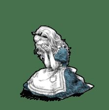 Alice in Sticker land sticker #10581494