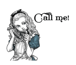 Alice in Sticker land sticker #10581499