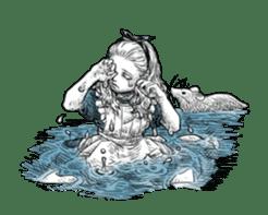 Alice in Sticker land sticker #10581502