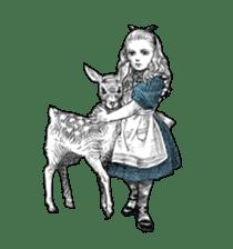Alice in Sticker land sticker #10581503