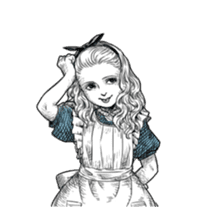 Alice in Sticker land sticker #10581504