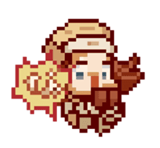 8-bit coffee girl sticker #10598463