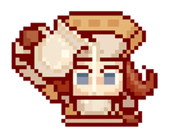 8-bit coffee girl sticker #10598465