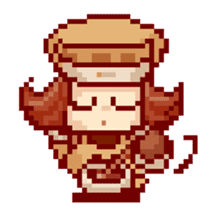 8-bit coffee girl sticker #10598467