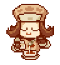 8-bit coffee girl sticker #10598469
