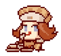 8-bit coffee girl sticker #10598489