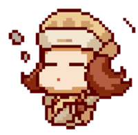 8-bit coffee girl sticker #10598492