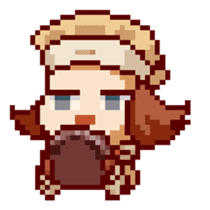 8-bit coffee girl sticker #10598493