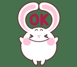 Fly with Happy Rabbit Flabbit !! sticker #10601238