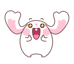 Fly with Happy Rabbit Flabbit !! sticker #10601254