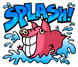 PIGGIE the Pinky Pig-ONOMATOPOEIA- sticker #10610632