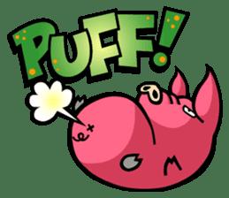 PIGGIE the Pinky Pig-ONOMATOPOEIA- sticker #10610634